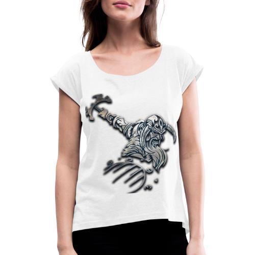 Viking - T-shirt med upprullade ärmar dam