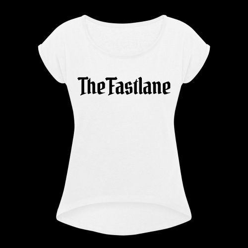 Logo Black - Women's T-Shirt with rolled up sleeves