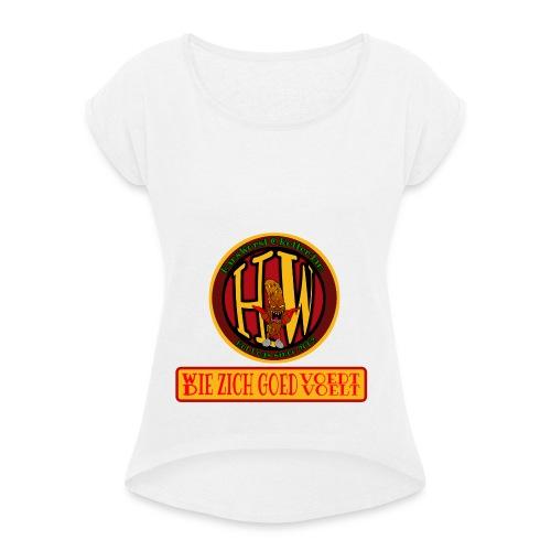 wie en die png - Women's T-Shirt with rolled up sleeves