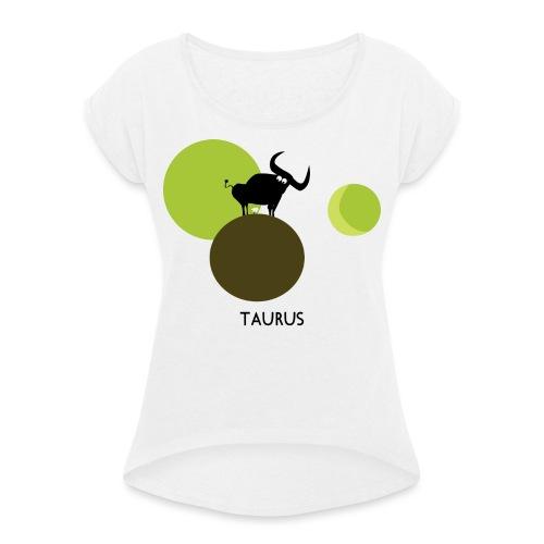 Unconventional zodiac :taurus - Maglietta da donna con risvolti