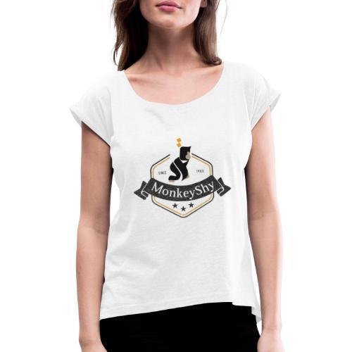 MonkeyShy logo fanion - T-shirt à manches retroussées Femme