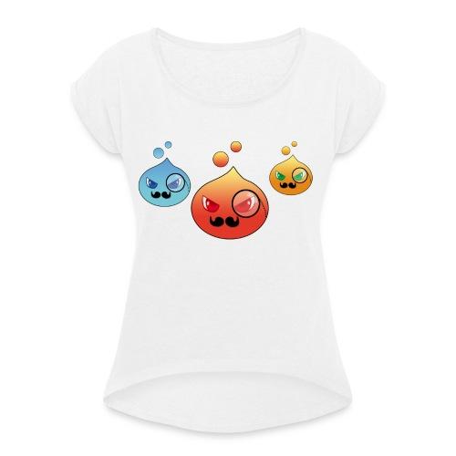 Outlezz - Gentlemen Slime - Frauen T-Shirt mit gerollten Ärmeln
