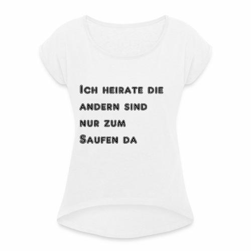 Spreadshirt - Frauen T-Shirt mit gerollten Ärmeln