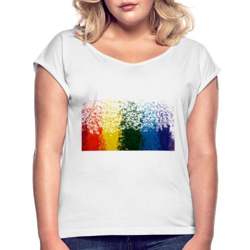happy sprinkles - Maglietta da donna con risvolti