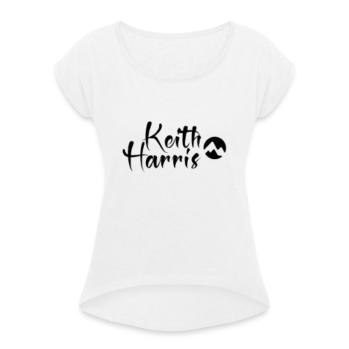 Keith Harris Logo - Women's T-Shirt with rolled up sleeves