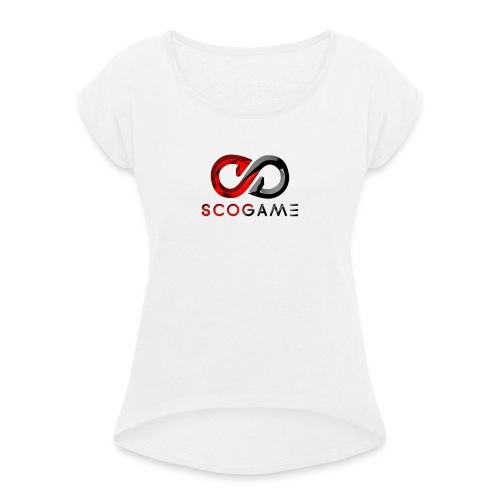 SCOGAME - T-shirt à manches retroussées Femme
