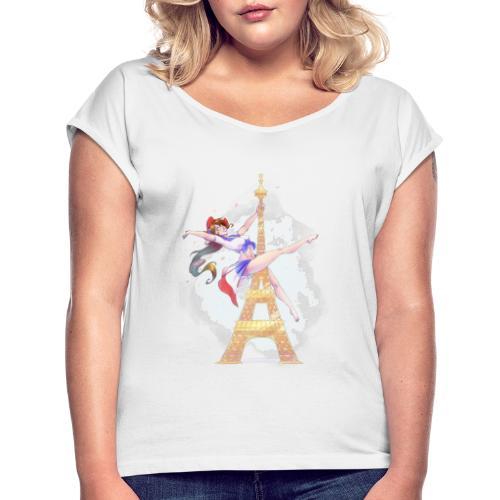 Pole Dance Marianne - T-shirt à manches retroussées Femme