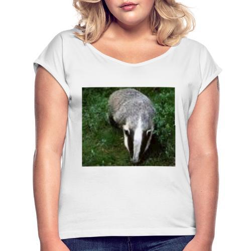 lillerik01 - T-shirt med upprullade ärmar dam