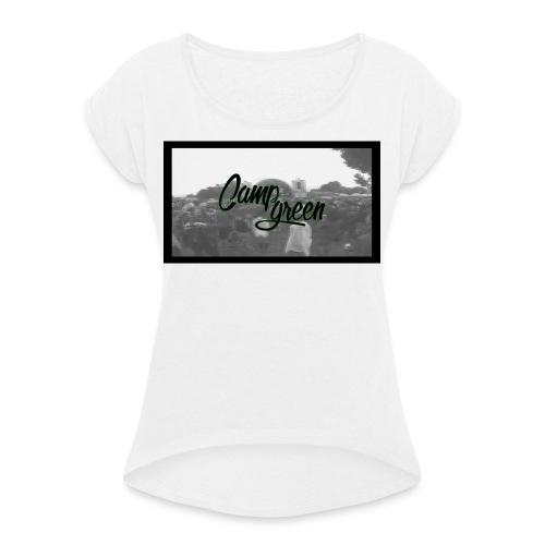 CampGreen Skyline - Frauen T-Shirt mit gerollten Ärmeln