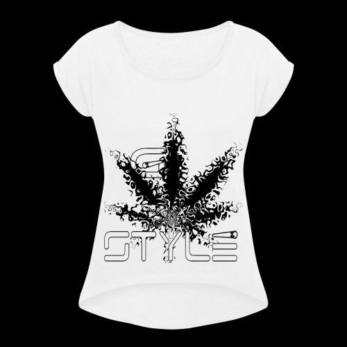 g-style 3 - Frauen T-Shirt mit gerollten Ärmeln
