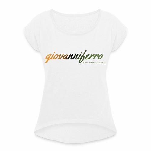 ferrovenezia png - Frauen T-Shirt mit gerollten Ärmeln