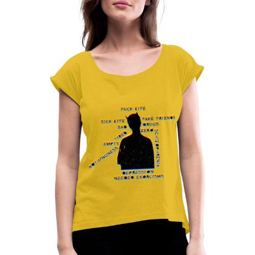 Sick Life (black) - T-shirt à manches retroussées Femme