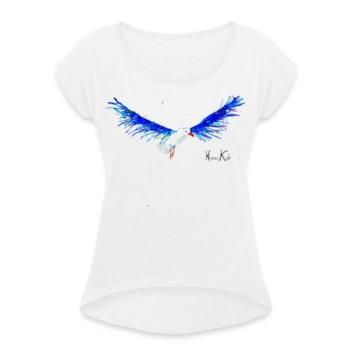 Möwe fertig gif gif - Frauen T-Shirt mit gerollten Ärmeln