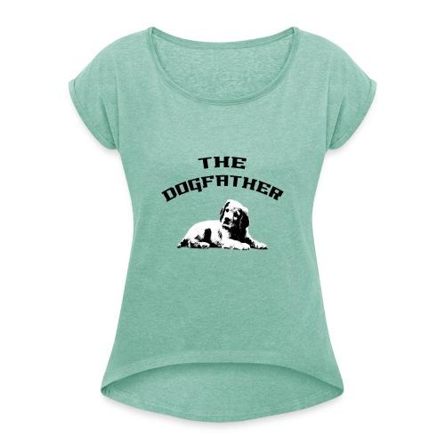 Divertente The DogFather Magliette Uomo Donna - Maglietta da donna con risvolti
