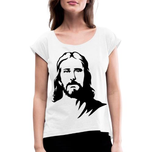 jesus - Maglietta da donna con risvolti