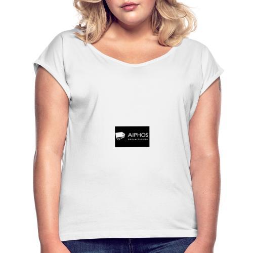 logo aiphos2 - Camiseta con manga enrollada mujer