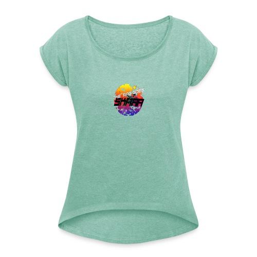 The ting goes SKRAA - Vrouwen T-shirt met opgerolde mouwen