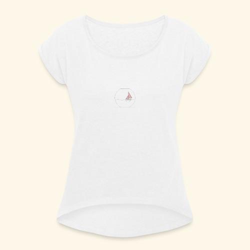 bateau - Camiseta con manga enrollada mujer