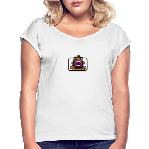 Hog rider scream - Vrouwen T-shirt met opgerolde mouwen