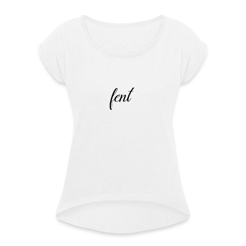 FENT grey t-shirt men - Vrouwen T-shirt met opgerolde mouwen
