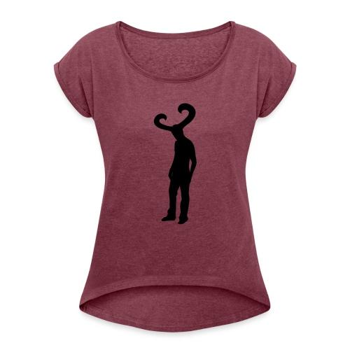 KC - Vrouwen T-shirt met opgerolde mouwen