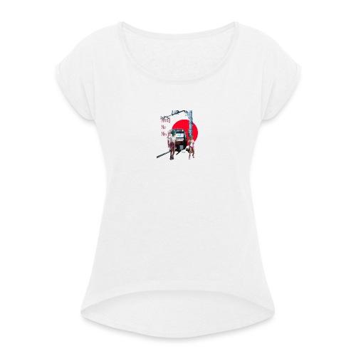 Tokya Need No Ninja - Maglietta da donna con risvolti