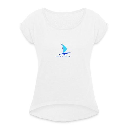 BSlogo - T-shirt à manches retroussées Femme