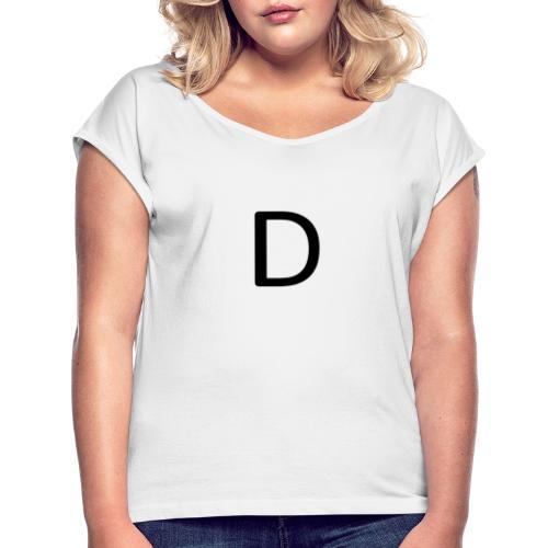D - Frauen T-Shirt mit gerollten Ärmeln