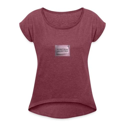 IMG 1322 - Dame T-shirt med rulleærmer