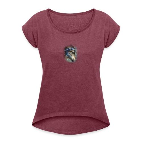 magnifique loups - T-shirt à manches retroussées Femme