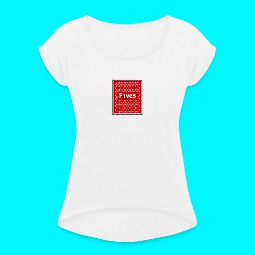 FIVES patch - T-shirt à manches retroussées Femme