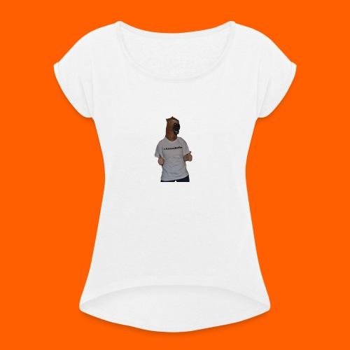 14522443_10209255230891241_171594584_o - T-skjorte med rulleermer for kvinner