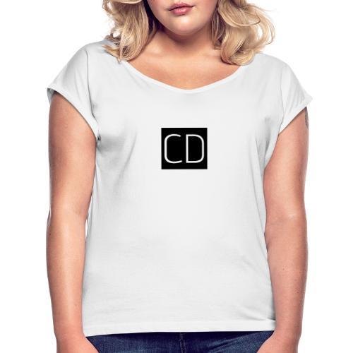 CD - Vrouwen T-shirt met opgerolde mouwen