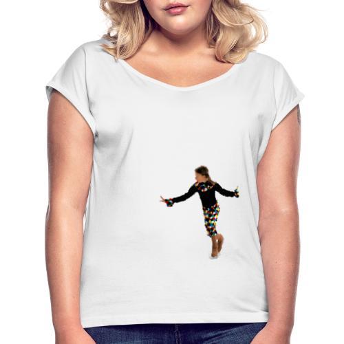 Harlekin - Frauen T-Shirt mit gerollten Ärmeln