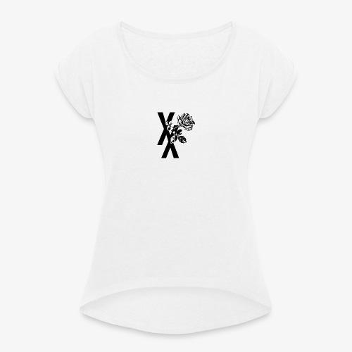 EST19XX ROSE - Vrouwen T-shirt met opgerolde mouwen