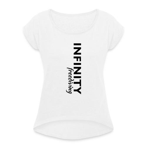 Infinity - Frauen T-Shirt mit gerollten Ärmeln