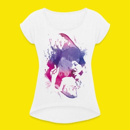 DONNE IN SCIOPERO!* - Maglietta da donna con risvolti