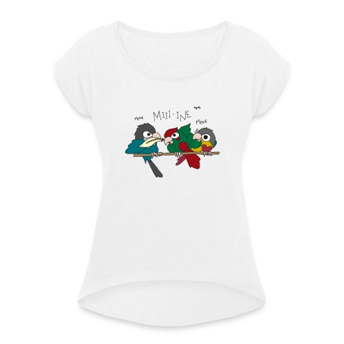 Feather Wars - Women's T-Shirt with rolled up sleeves