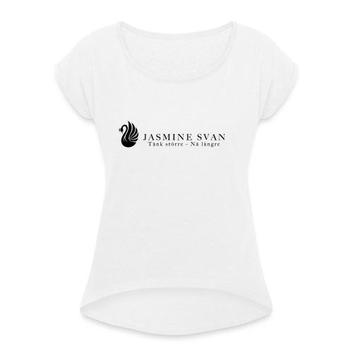JasmineBrand - T-shirt med upprullade ärmar dam
