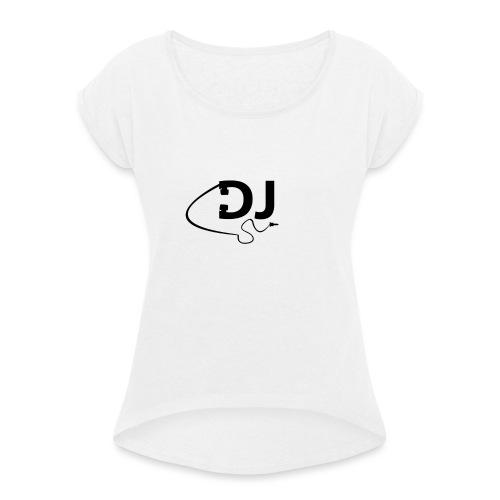 DJ Casque - T-shirt à manches retroussées Femme