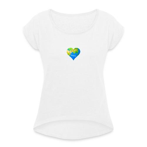 imagine - Frauen T-Shirt mit gerollten Ärmeln