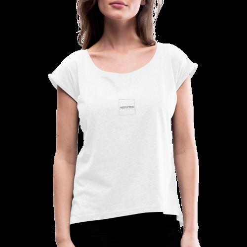 Accro - T-shirt à manches retroussées Femme