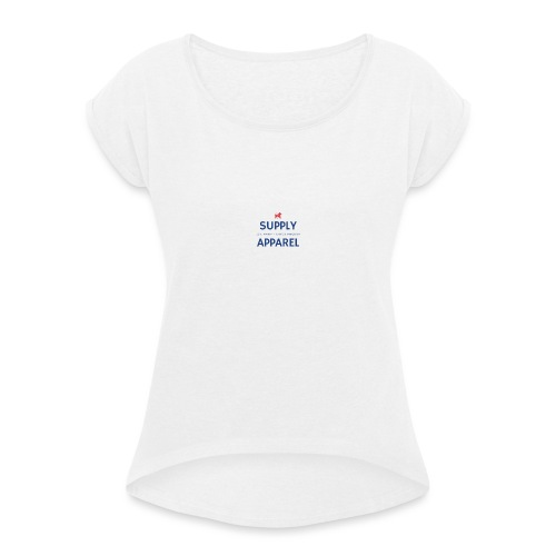 Plain EST logo design - Women's T-Shirt with rolled up sleeves