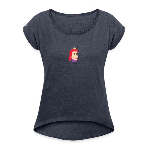 queen - Camiseta con manga enrollada mujer