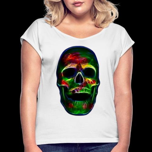 Skull of transformation - Frauen T-Shirt mit gerollten Ärmeln