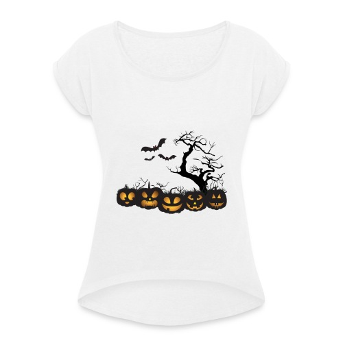 halloween - Women's T-Shirt with rolled up sleeves