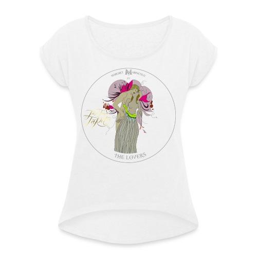 The Lovers | Die Liebenden Tarot Karte | Zwillinge - Frauen T-Shirt mit gerollten Ärmeln