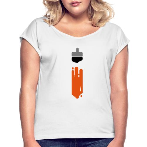 i - Women's T-Shirt with rolled up sleeves