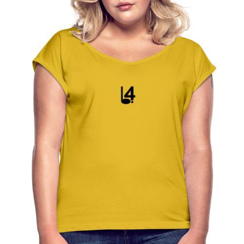 Logo L4 - T-shirt à manches retroussées Femme