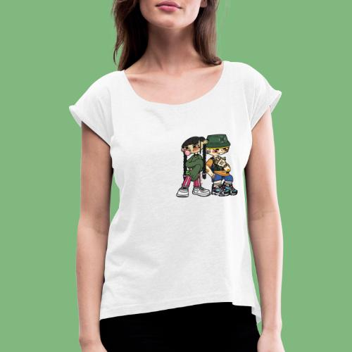 Numero tres y numero cuatro - Camiseta con manga enrollada mujer